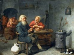 In an Inn   David Ryckaert III   Oil Painting
