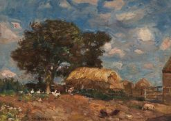 Farm Scene | Frederick William Jackson | Oil Painting
