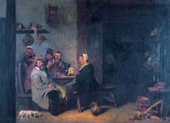 Tavern Interior   David Ryckaert III   Oil Painting
