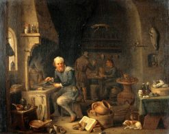 An Alchemist Seated at a Furnace