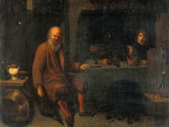 An Alchemist in His Laboratory | David Ryckaert III | Oil Painting