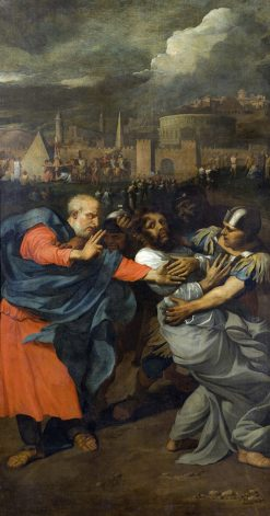 Saint Paul bids his farewell to Saint Peter | Bertholet Flemalle | Oil Painting