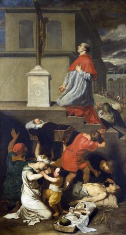 Charles Borromeo and the Pestilents | Bertholet Flemalle | Oil Painting