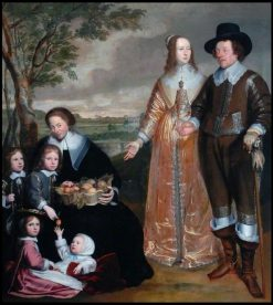 Family Portrait Group | Anselm van Hulle | Oil Painting