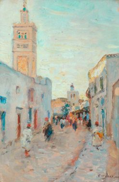 Oriental Street Scene | Frederick William Jackson | Oil Painting