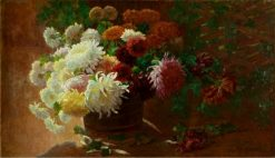 Chrysanthemums | Alice B. Chittenden | Oil Painting