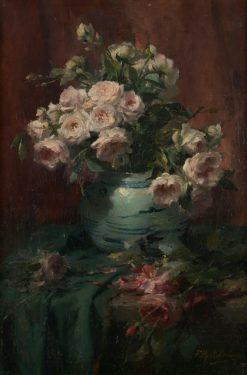 Vase of Flowers   Frans Mortelmans   Oil Painting