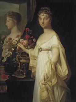 Elisabeth Alexeievna with a Mirror | Jean Laurent Mosnier | Oil Painting