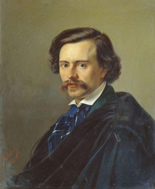 Portrait of Painter Potap Petrovsky | Nikolai Lavrov | Oil Painting