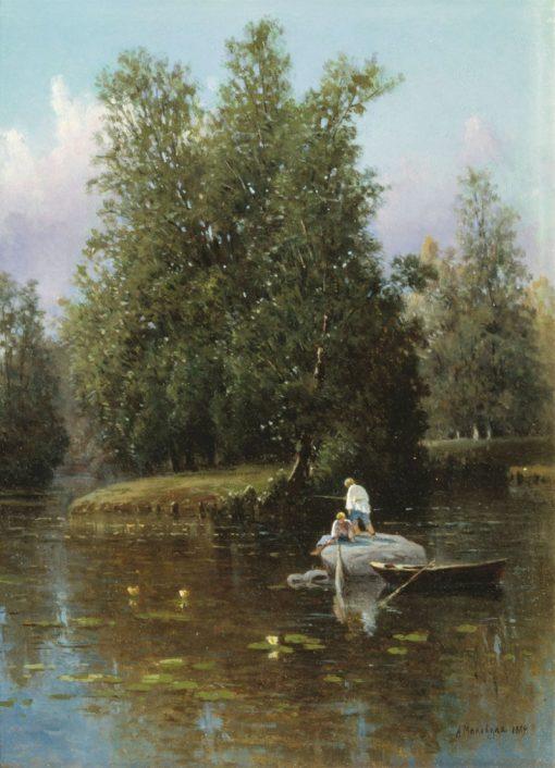 The Outskirts of St. Petersburg   Alexandra Makovskaya   Oil Painting