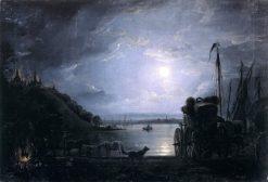 Night in Kiev | Mikhail Sazhin | Oil Painting