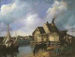 Old St. Petersburg   Mikhail Sazhin   Oil Painting