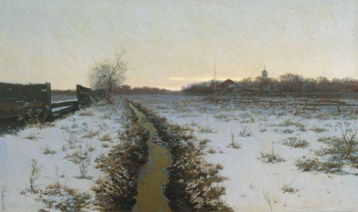 Winter Evening | Konstantin Pervukhin | Oil Painting