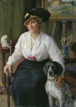 Portrait of Teacher K.V. Sheveleva | Veniamin Popov | Oil Painting