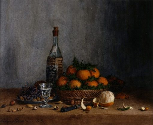 Still Life with Basket of Oranges | Leon Bonvin | Oil Painting