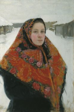 Portrait of the Artists Wife | Lukian Popov | Oil Painting