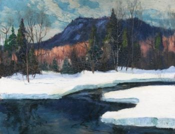 Winter Landscape with a River | Maurice Cullen | Oil Painting