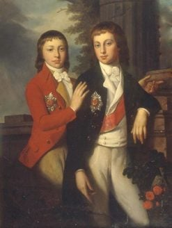Portrait of Grand Prince August of Oldenburg and Prince Georg of Oldenburg | Jean Laurent Mosnier | Oil Painting