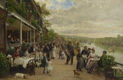 Sunday in Bas-Meudon | Marie-Francois Firmin-Girard | Oil Painting