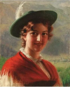 Portrait of a Bavarian Beauty | Alois Binder | Oil Painting
