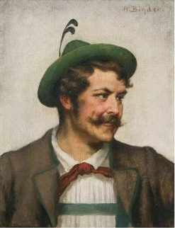 Man in Bavarian Costume | Alois Binder | Oil Painting