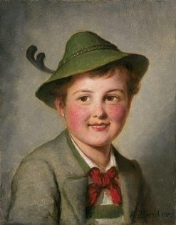 A Portrait of a Young Boy | Alois Binder | Oil Painting