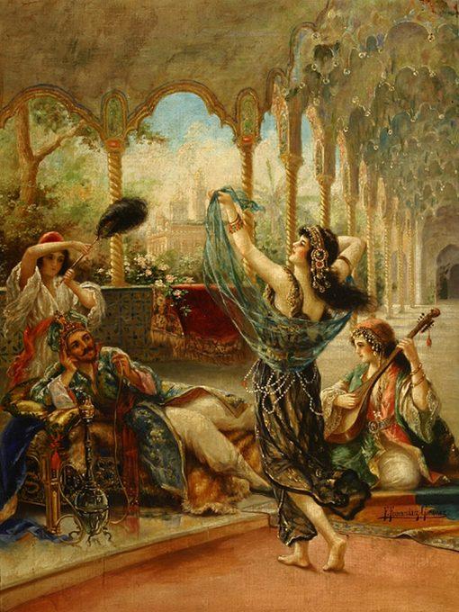 The Dancing Beauty   Federico Fernandez y Gimenez   Oil Painting