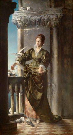Venetian Lady | Carl Probst | Oil Painting