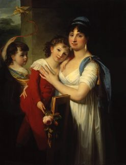 Portrait of Anna Muravyova-Apostol with Her Son and Daughter | Jean Laurent Mosnier | Oil Painting
