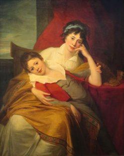 Portrait of Catherine Muravyova with Her Son Nikita Muravyov | Jean Laurent Mosnier | Oil Painting