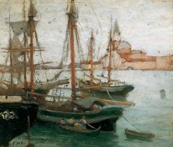 Ships in Venice | Frederick William Jackson | Oil Painting