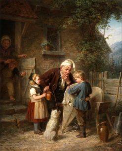 The Broken Kite | Johann Hermann Kretzschmer | Oil Painting