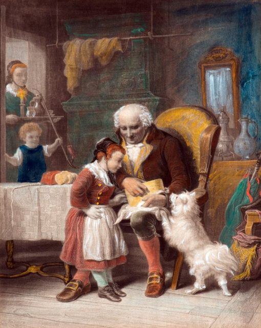 Grandfathers Birthday | Johann Hermann Kretzschmer | Oil Painting