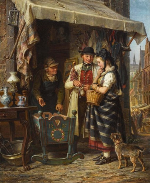The First Cradle   Johann Hermann Kretzschmer   Oil Painting