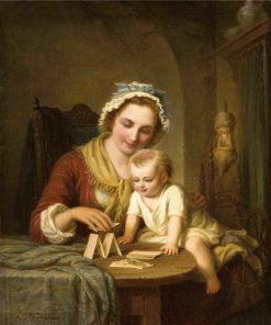 Mother and Child | Johann Hermann Kretzschmer | Oil Painting