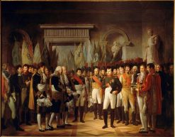 Napoleon I receives deputies of the French Senate at the Royal Palace of Berlin