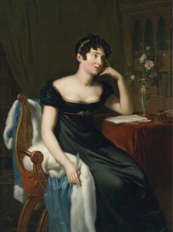 Portrait of the Irish Novelist Lady Sydney Morgan | Rene-Thodore Berthon | Oil Painting