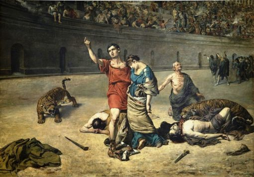 Eudoro and Cimodocea in the Amphitheater | Jose Bermudo Mateos | Oil Painting