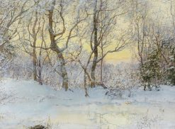 Snow covered landscape | Walter Launt Palmer | Oil Painting
