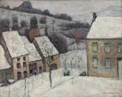 Murol in the Snow | Victor Charreton | Oil Painting