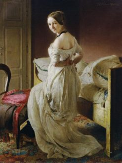 Woman in the Negligee | Johann Baptist Reiter | Oil Painting