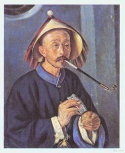 Chinese Man Smoking a Pipe | Carl Peter Mazer | Oil Painting