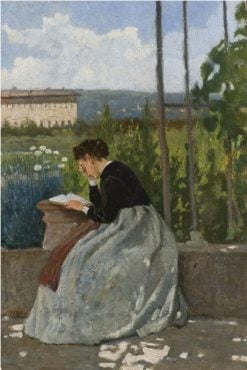 Romantic Reading | Silvestro Lega | Oil Painting
