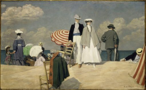On the Beach at Cabourg | Rene-Francois-Xavier Prinet | Oil Painting