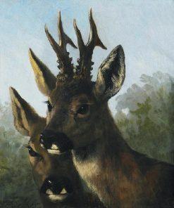 Deer | Carl Friedrich Deiker | Oil Painting