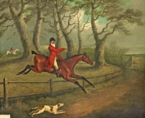 A Huntsman Taking a Fence | John Nost Sartorius | Oil Painting