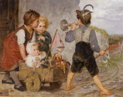 The Toy Barrow | Agathe Rostel | Oil Painting
