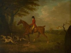 A Huntsman and Three Hounds at the Edge of a Wood | John Nost Sartorius | Oil Painting