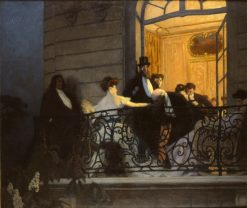 On the Balcony | Rene-Francois-Xavier Prinet | Oil Painting