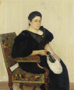 Woman with Fan | Isidor Kaufmann | Oil Painting